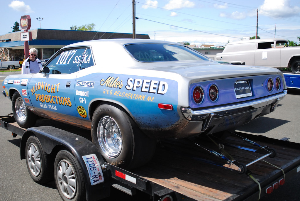 1972 Plymouth Barracuda Super Stock Drag Car The Sign At
