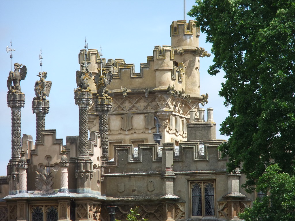 Skyline Of Knebworth House Towers Turrets Crenellations