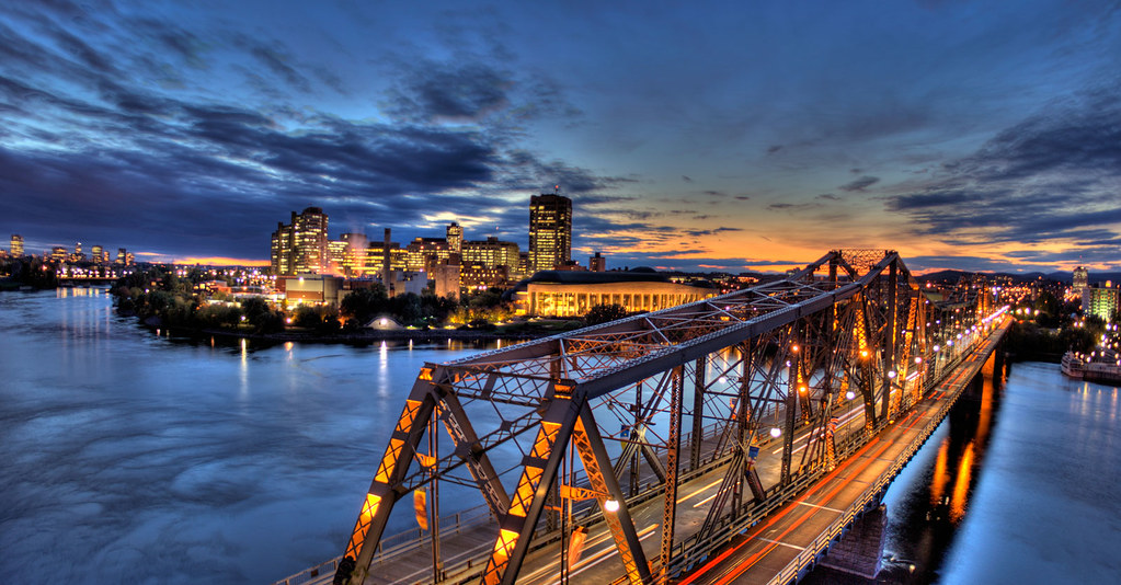 Alexandria Bridge Ottawa Panorama Hdr The Royal