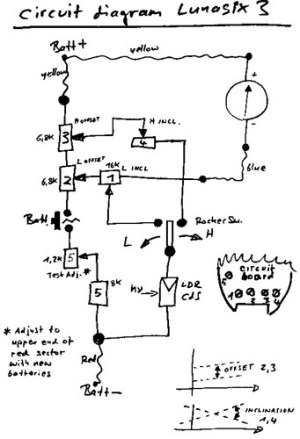 Gossen Lunasix 3 circuit diagram | I have a few cameras