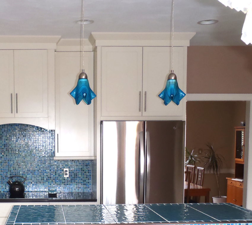 Colored Pendant Lights Kitchen