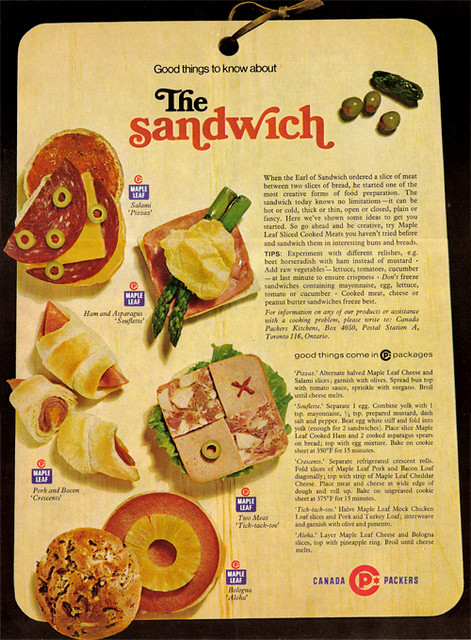 Vintage Ad 786 The Sandwich Source Chatelaine July