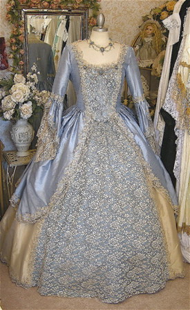Blue And Gold Dressgown Renaissancevictorian Flickr