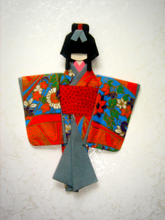 Little Origami Doll Materials Yuzen Washi Origami