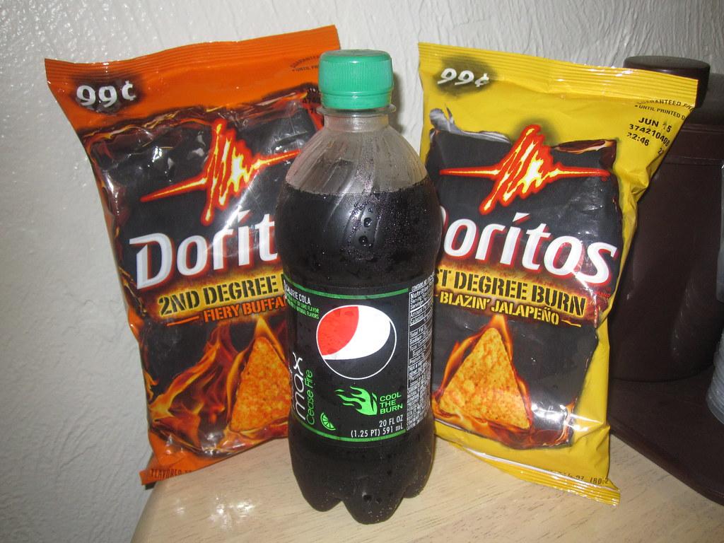 Pepsi Max Cease Fire VS Burn Edition Doritos The