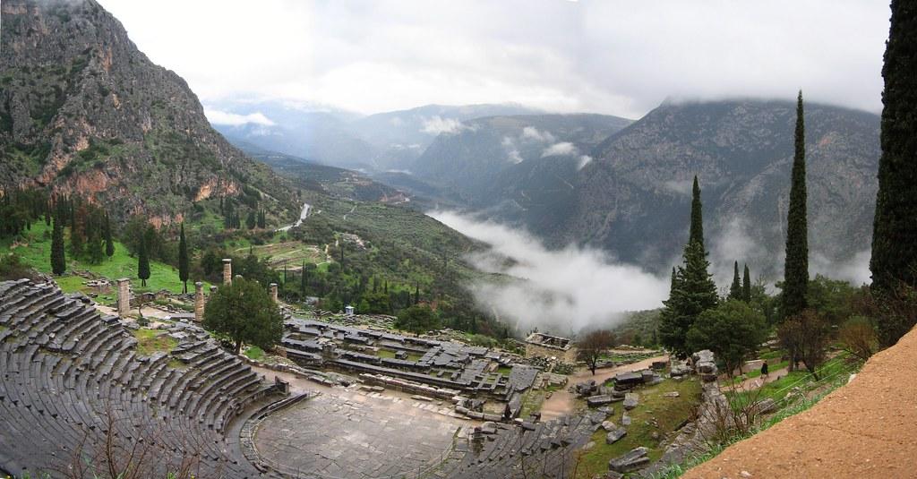 Site Delphi Greece Map
