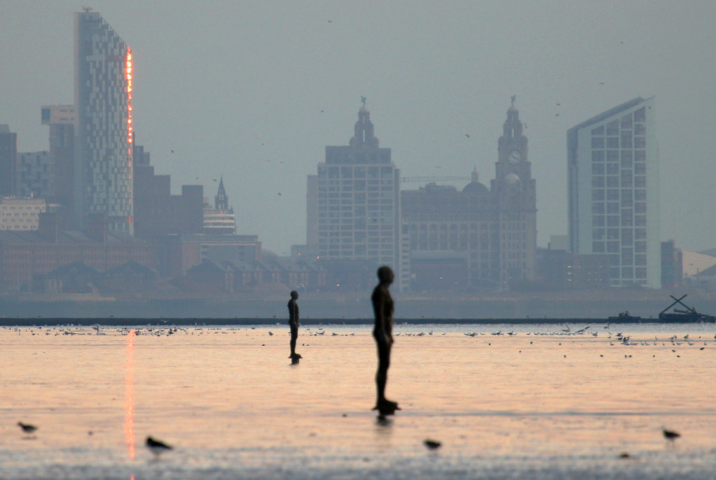 Another Place Crosby And Liverpool Skyline This Is A Re