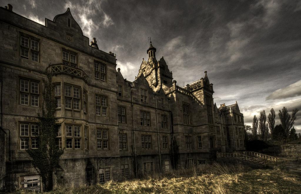 Black And White Abandoned Hospital