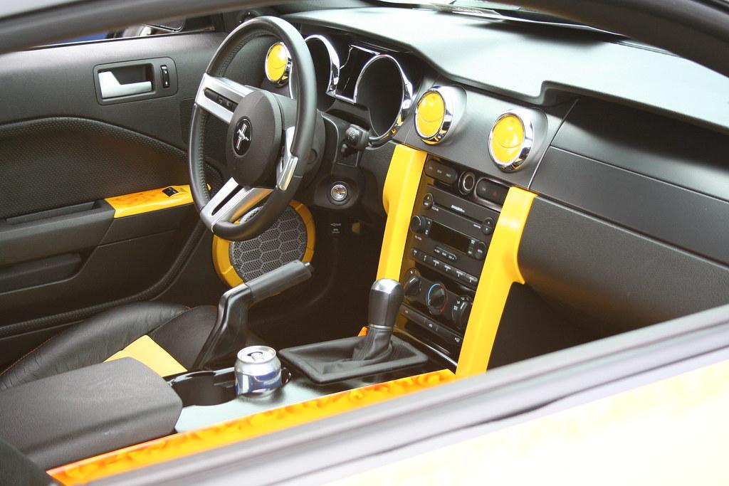 Sweet Yellow Mustang Convertible Interior Charlie J