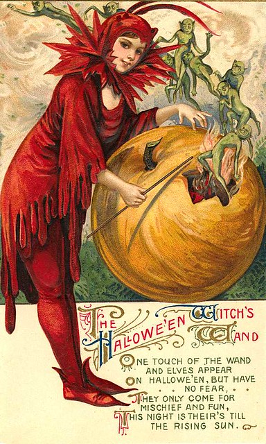 Vintage Halloween Postcards Free To Use In Your Art Only