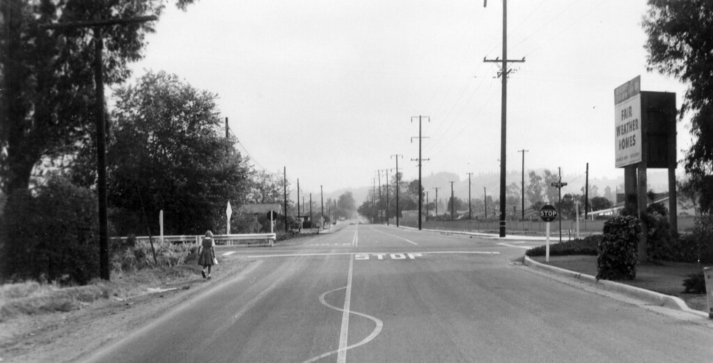Red Hill Ave At Irvine Blvd Tustin Circa 1960 There