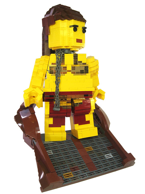 LEGO Star Wars slave Leia sculpture