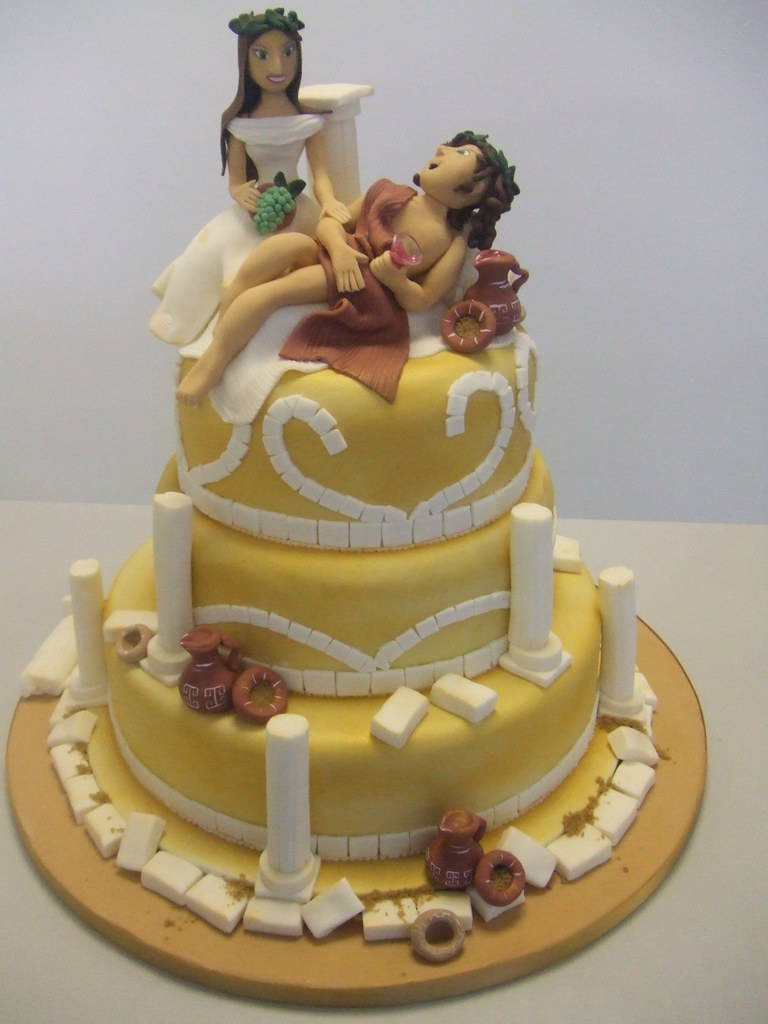 Greek Wedding Cake Wwwcakechestercouk Three Tiers Of