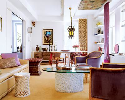 Colorful Eclectic Beautiful Global Chic Living Room Fr