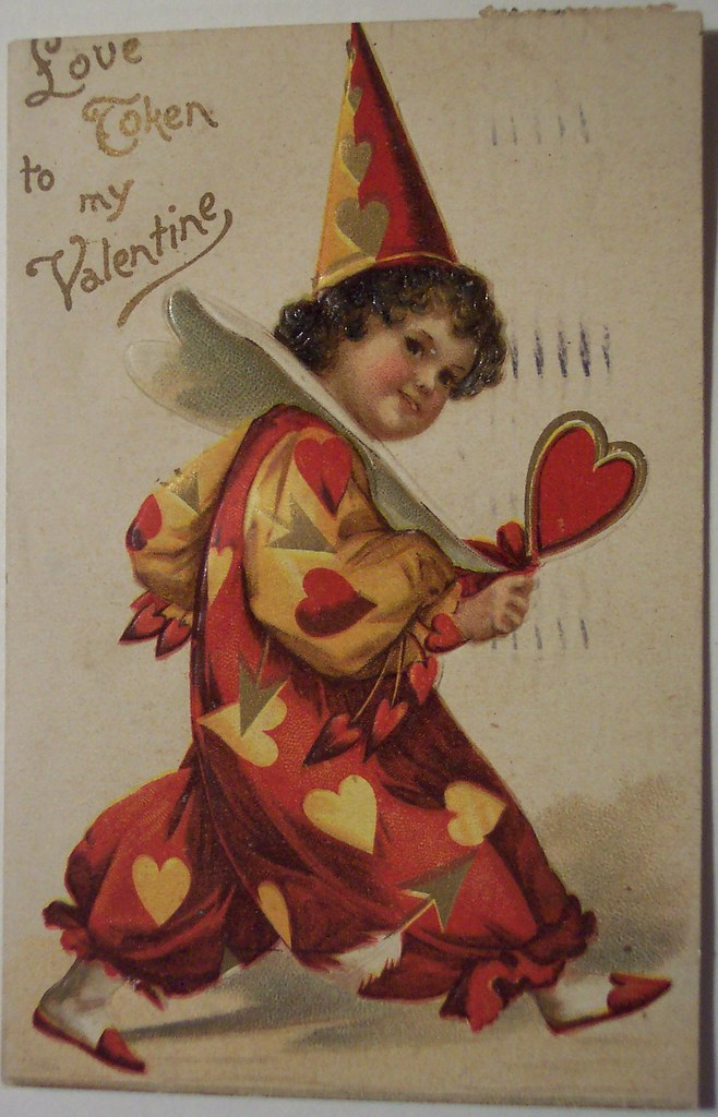 Vintage Valentines Day Postcard Dave Flickr