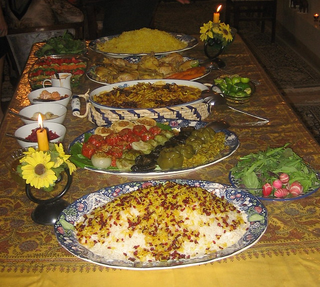 Iranian Dinner Table This Is A Sample Of The Iranian