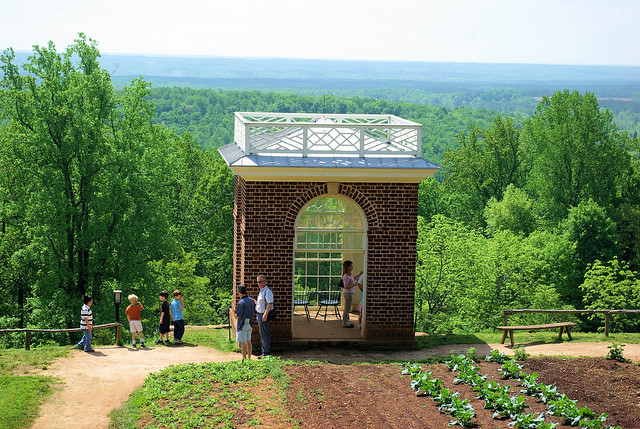 Garden Pavilion at Thomas Jefferson's Monticello, Charlottesville, Virginia, May 8, 2009