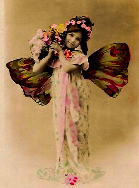 Ms Butterfly Girl Vintage Photo Free To Use Mary