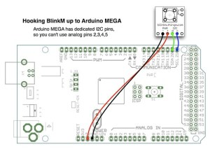 BlinkM with Arduino MEGA | The Arduino MEGA has dedicated