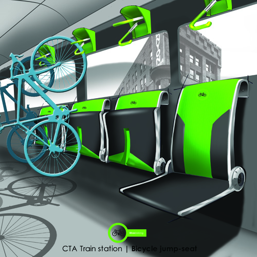Cta Bicycle Friendly Interior Train Storage This Is A