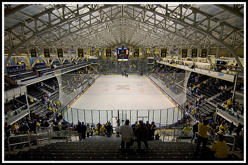 Yost Ice Arena Michigan Vs Western Michigan Ccha Second