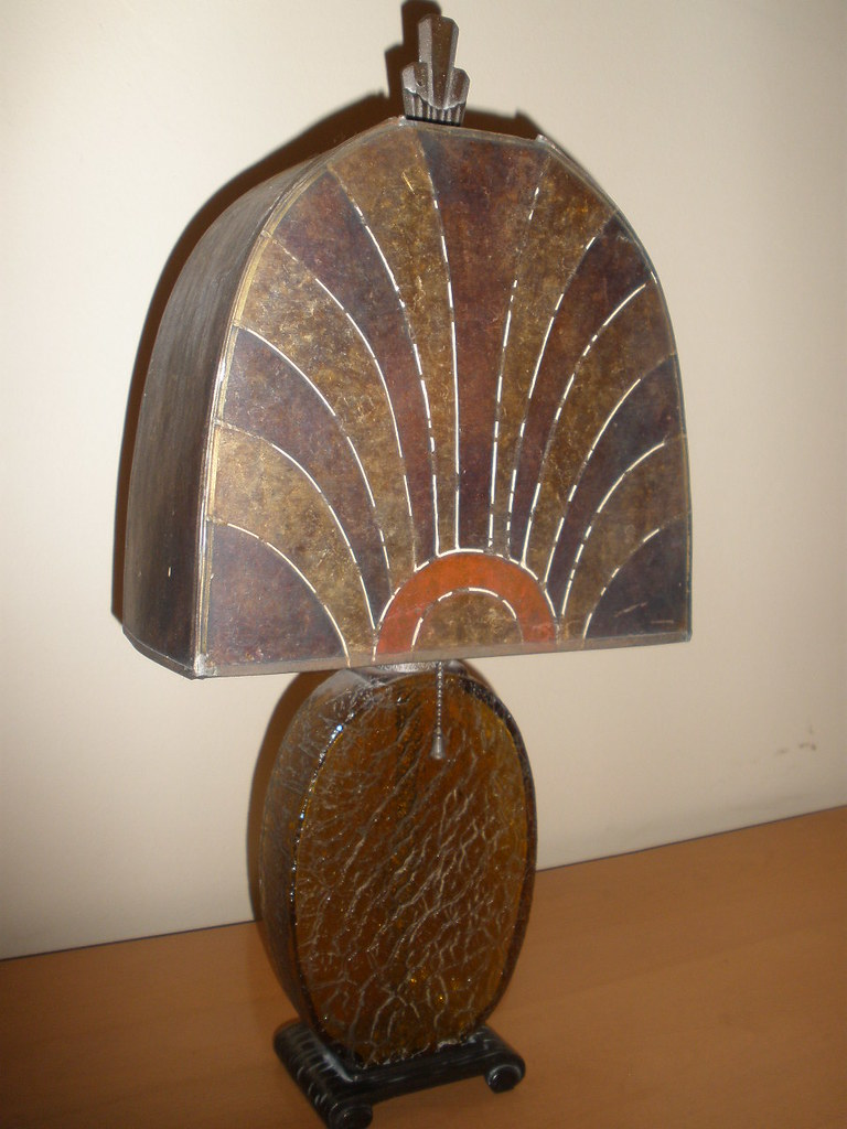 Art Deco Mica Table Lamp Here S Another Deco Lamp From