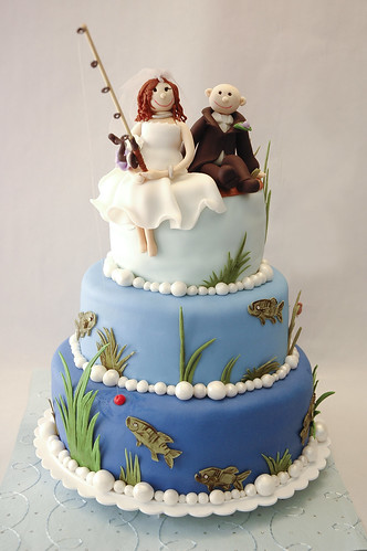 Fishing Theme Wedding Cake This Cake Was Made For A