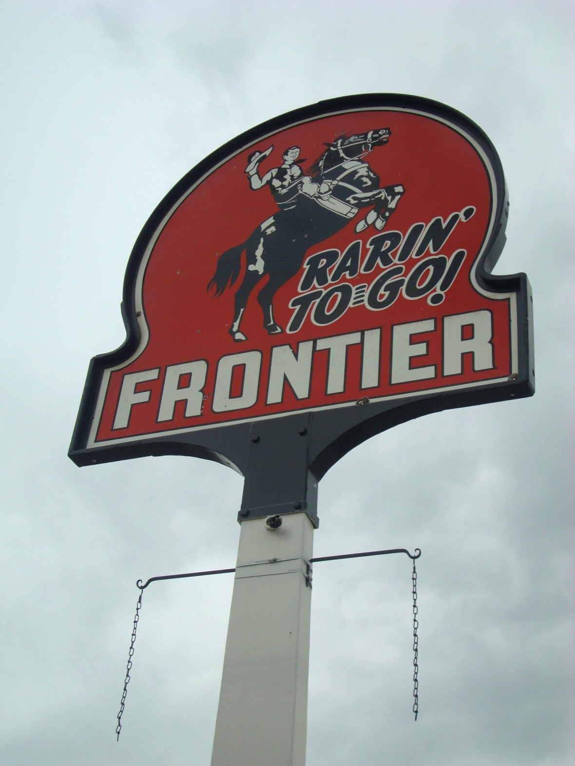 Frontier Gas sign - Craig, Colorado U.S.A. - May 21, 2009