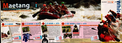 Brochure The Peak Adventure White Water Rafting Chiang Mai Thailand 1