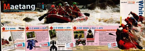 Brochure The Peak Adventure White Water Rafting Chiang Mai Thailand 1