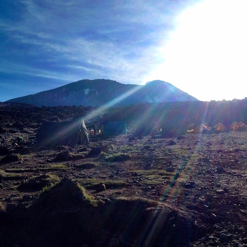 θέα της κορυφής του ορους κιλιμαντζαρο