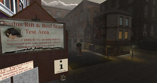 Oculus Rift and Real Scale Test area