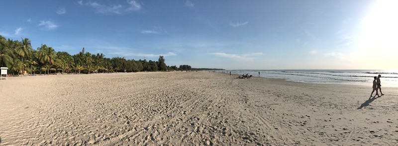 panoramic view of cap skirring beach in casamance
