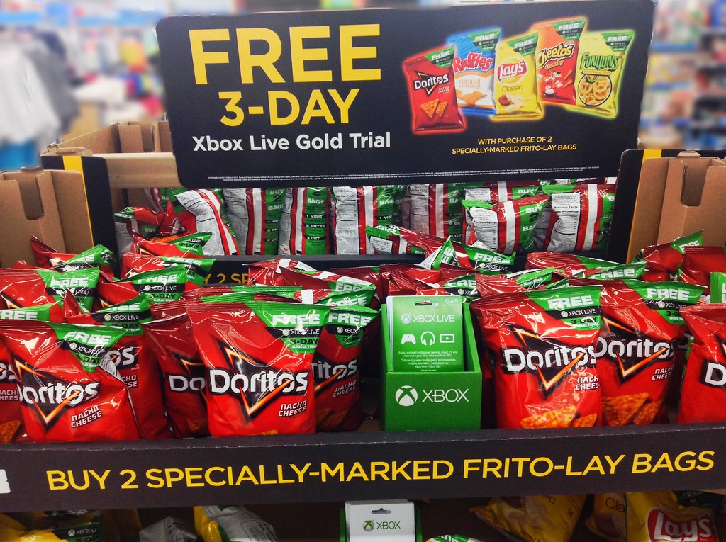 Xbox Live Gold Free Trial With Doritos Purchase Floor Disp Flickr