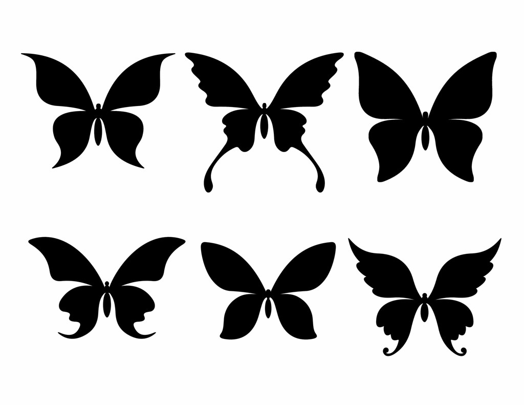 Large Free Butterfly Silhouettes