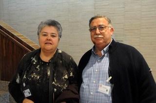 Pilar Vera y Luís Rey (AVJK5022) en las Cortes de Castilla y León instantes antes de la aprobación de la PNL por unanimidad de todos los grupos políticos en dicha Comunidad Autónoma