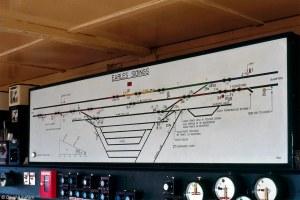 Earles Sidings | The 1982dated illuminated track diagram