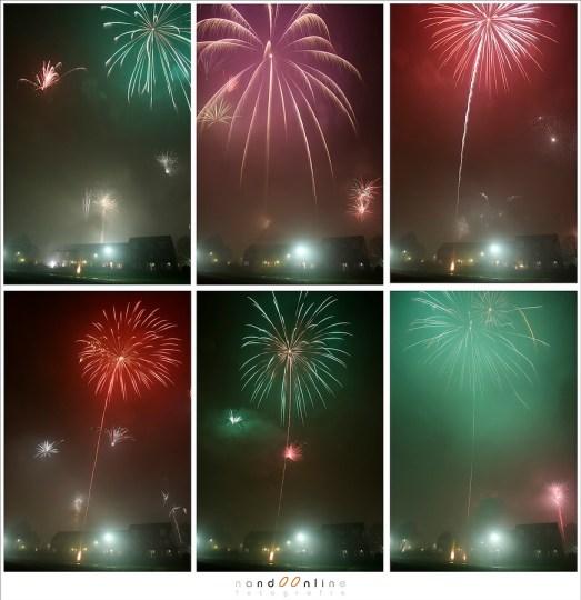 Collage van het vuurwerk in Helmond, Brouwhuis