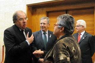 Pilar Vera con Juan Vicente Herrera, presidente de la Comunidad Autónoma de Castilla y León