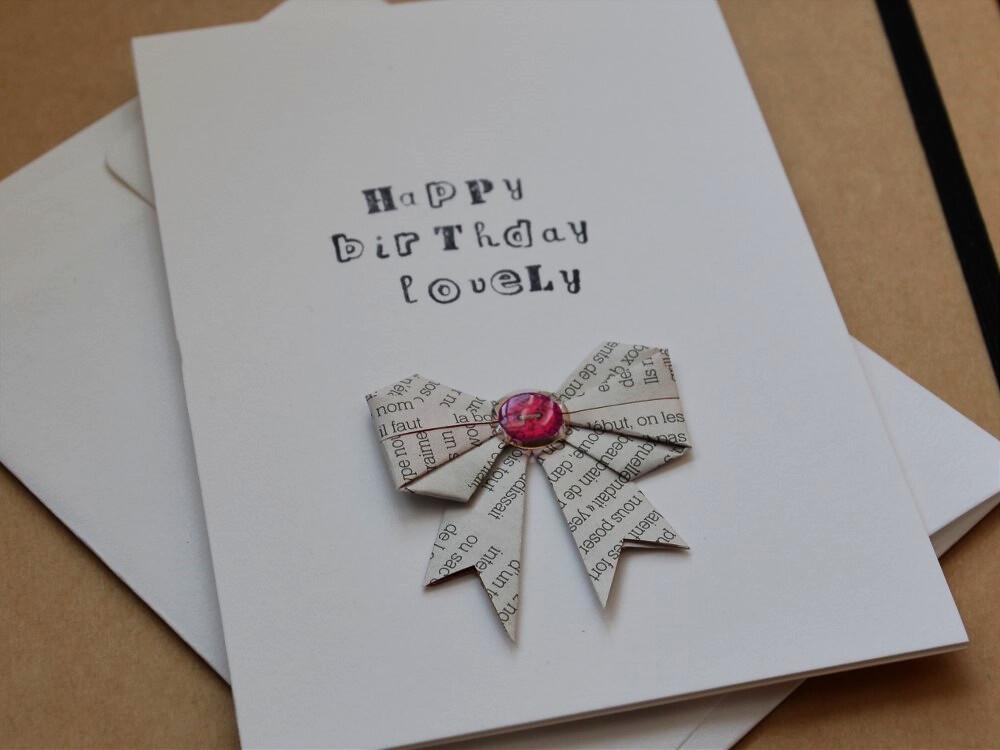 Handmade Origami Birthday Card Handmadebykatherine