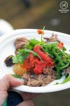 Review of Lovedale Long Lunch: 200g Grass Fed Scotch Fillet, with tatler chipolatas, herbed butter, tomato chutney, and rocket, pear and walnut salad