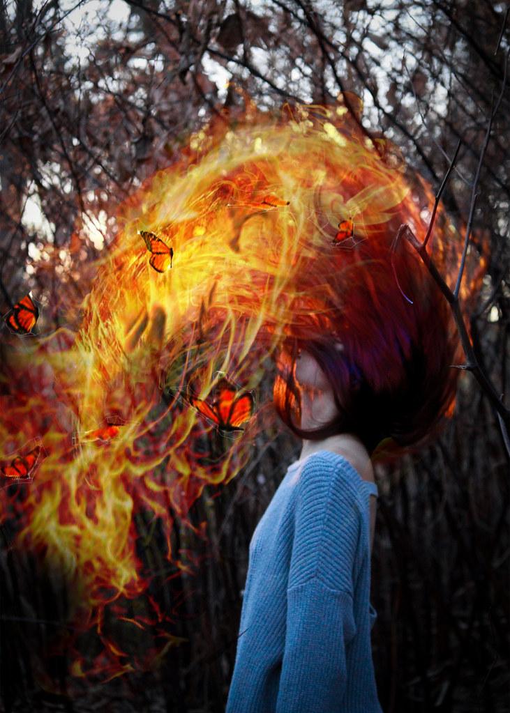 Girl On Fire Lindsey Cichocki Flickr