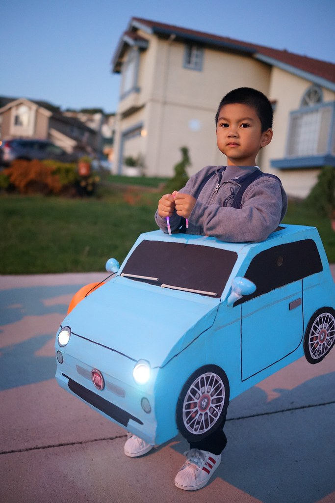 DIY Halloween Fiat 500 Car Costume Ayden Loves The Fiat