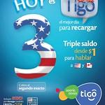 hablar a USA y CANADA con saldo TIGO triple - 13ago14