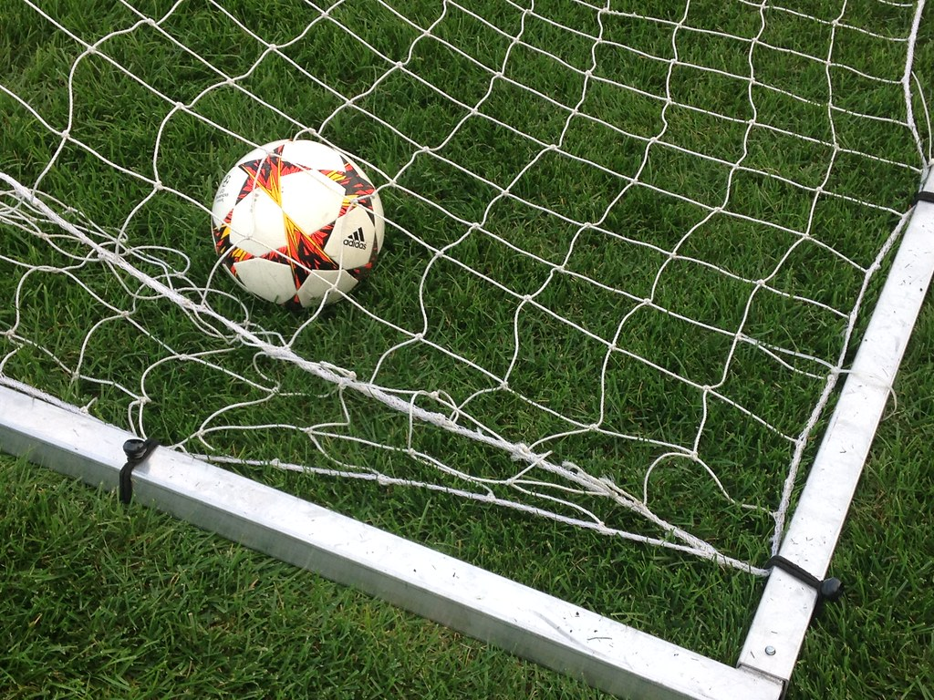 Soccer Ball Trapped In Goal