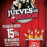 PILSENER promocion jueves de amigos balde de cerveza - 13ago14