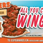 Promociones restaurante HOOTERS el salvador - 12sep14