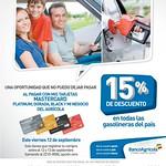 descuento en gasolina tarjetas banco agricola - 12sep14