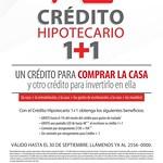 Credito hipotecario 1 mas 1 promocion BAnco DAVIVIENDA - 11ago14