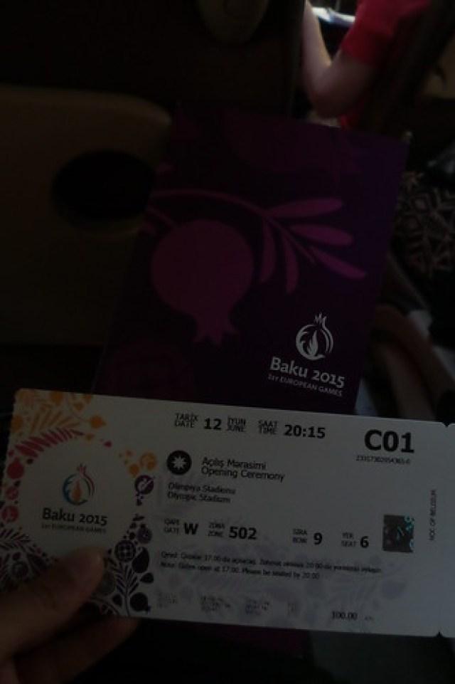 10. Openingsceremonie ticket